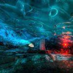 غار های یخی زیبا و شگفت انگیز در آلاسکا + تصاویر سایت 4s3.ir
