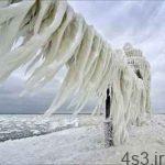 فانوس یخ زده دریاچه میشیگان سایت 4s3.ir