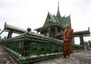 معبد بودایی ساخته شده از بطری! سایت 4s3.ir