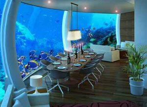 هتل پوزیدون از هتل های لوکس زیر آب سایت 4s3.ir