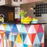 پیشنهادهایی برای دکوراسیون رنگی آشپزخانه سایت 4s3.ir