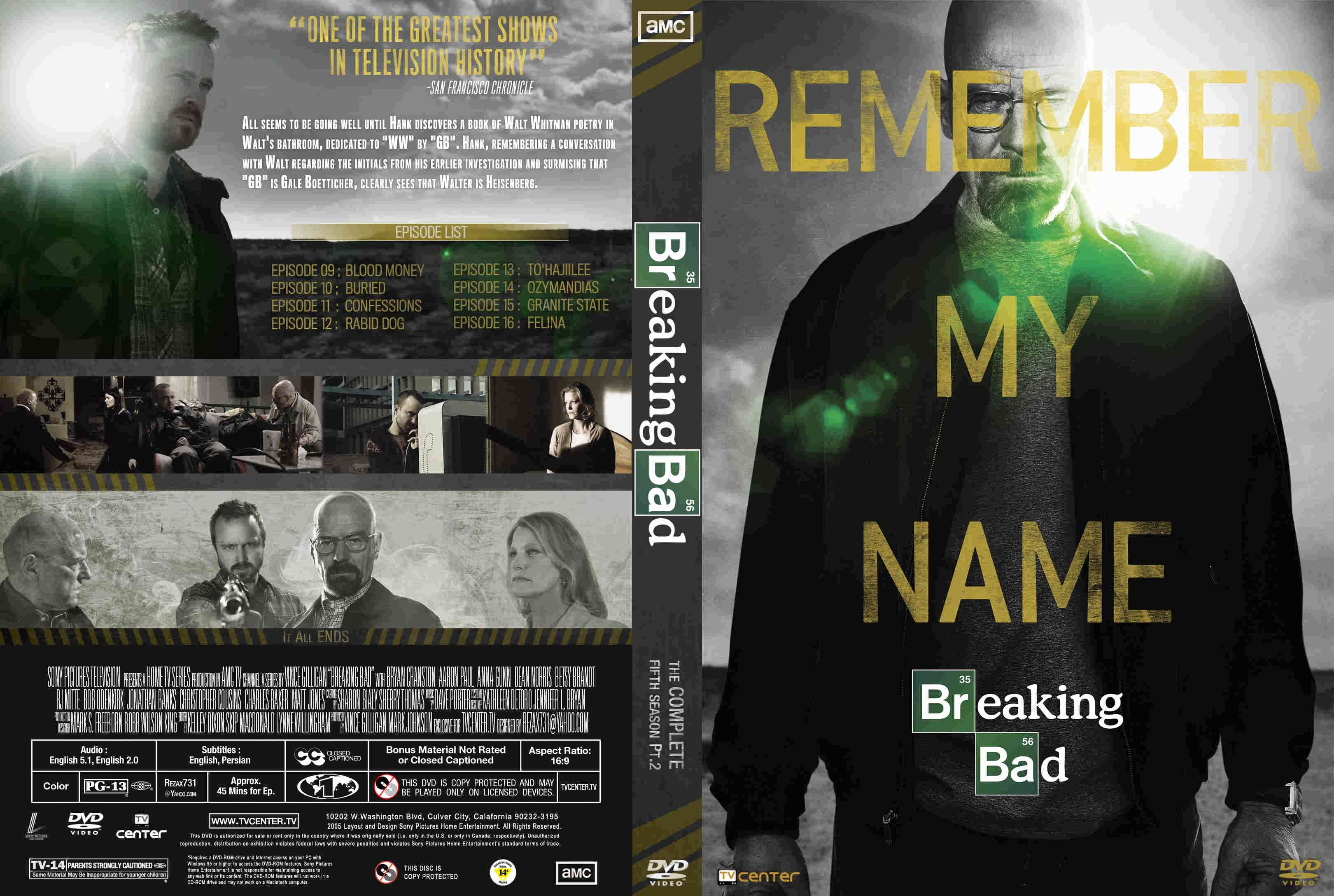 cover serial breaking bad6 - سریال بریکینگ بد Breaking Bad فصل پنجم با دوبله فارسی قسمت ۳