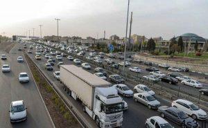 ترافیک سنگین در آزادراه قزوین_کرج_ تهران سایت 4s3.ir