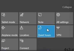 ترفندهای کامپیوتری : تغییر زمان ساعات آرام در ویندوز 10 سایت 4s3.ir