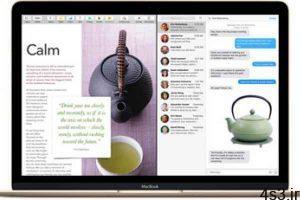 ترفندهای کامپیوتری : تقسیم صفحه نمایش به دو قسمت در مک سایت 4s3.ir