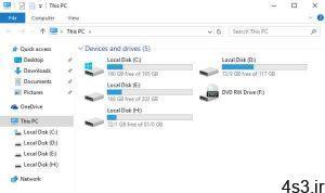 ترفندهای کامپیوتری : حذف پوشه های Library از محیط This PC سایت 4s3.ir