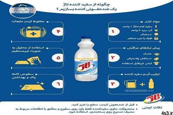 رعایت بهداشت در خانه و اهمیت ضدعفونی کردن سطوح سایت 4s3.ir