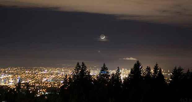 چرا ماه ما را تعقیب می کند؟