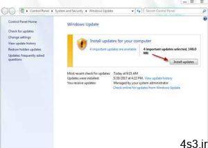 ترفندهای کامپیوتری : چگونه از آپدیت بودن ویندوز سیستم خود مطلع شوید سایت 4s3.ir