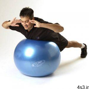آموزش ورزش با توپ بدنسازی سایت 4s3.ir