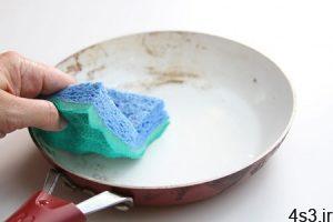 ۳ روش برای تمیز کردن ظروف تفلون بدون ایجاد خش سایت 4s3.ir