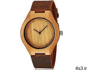 ساعت های مچی زیبای مردانه از جنس چوب سایت 4s3.ir