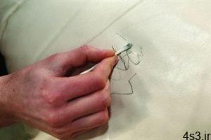 نحوه پاک کردن لکه خودکار از روی چرم سفید سایت 4s3.ir