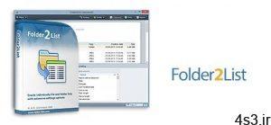 دانلود Folder2List v3.23.0 - نرم افزار ایجاد فهرست از پوشه ها و فایل ها سایت 4s3.ir