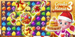 """دانلود Cookie Mania 3 1.5.4 – بازی تفننی-پازلی جالب """"عشق کلوچه 3"""" اندروید + مود سایت 4s3.ir"""