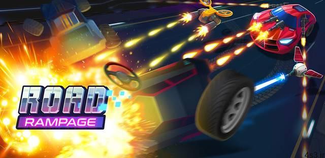 """دانلود Road Rampage 4.5.1 ~ 2 – بازی آرکید مهیج """"خشم جاده"""" اندروید + مود سایت 4s3.ir"""